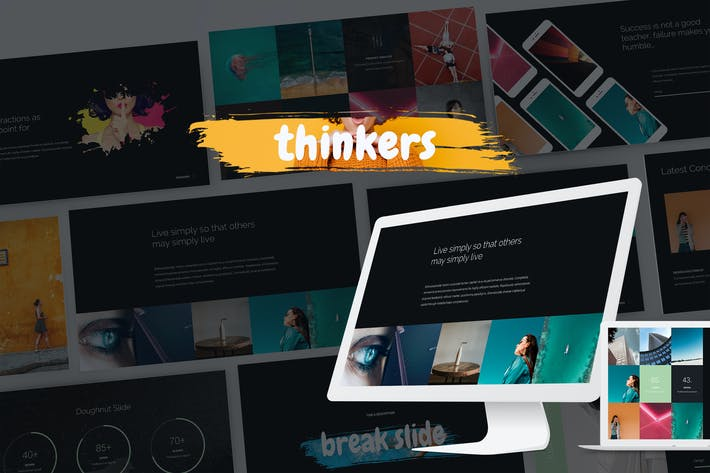 Thumbnail for Thinkers - Creative Presentation Template (KEY)