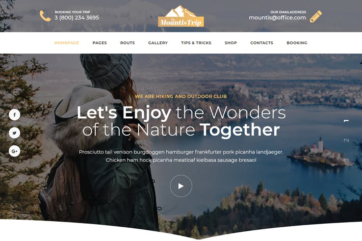 Thumbnail for Mountis - Hiking And Outdoor Club Joomla Template