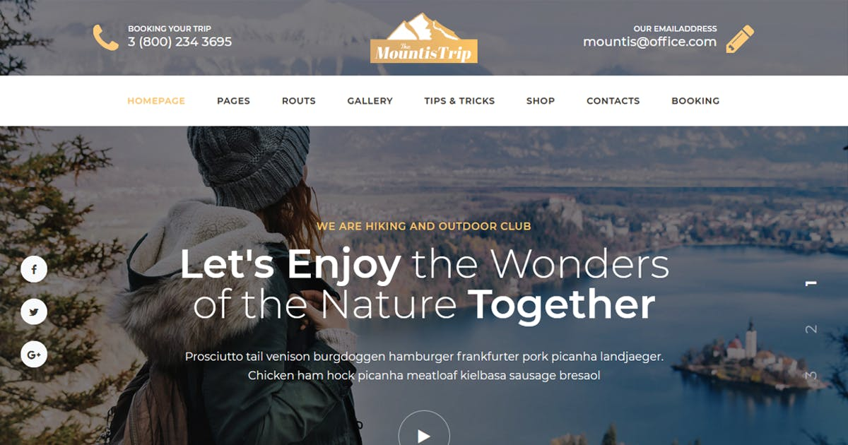 Download Mountis - Hiking And Outdoor Club Joomla Template by codelayers