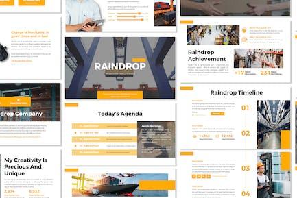 Raindrop - Business Template Prensentation