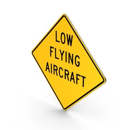 Niedriges Flugzeug-Straßenschild