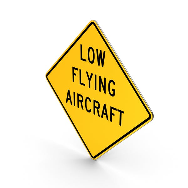 Thumbnail for Low Flying Aircraft Road Sign