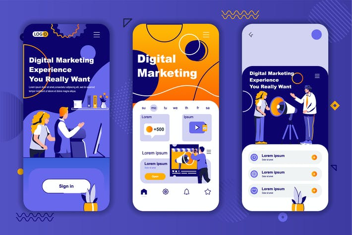 Marketing Instagram Stories Onboarding Screens