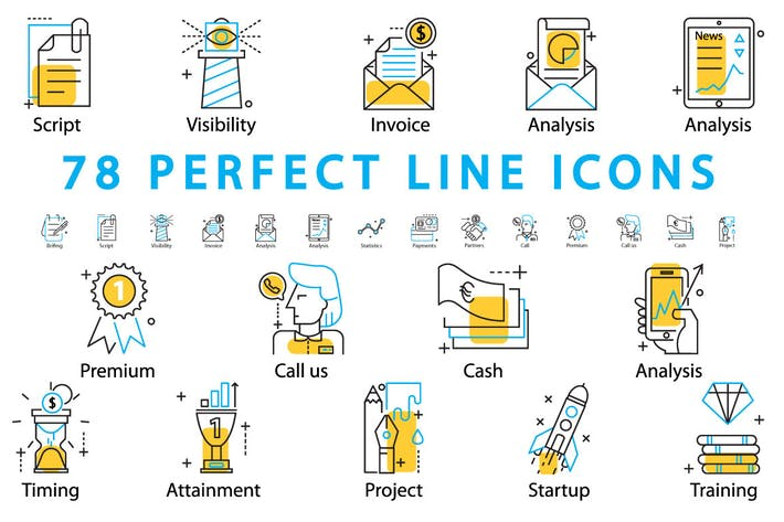 Cover Image For 78 PERFECT LINE ICONS