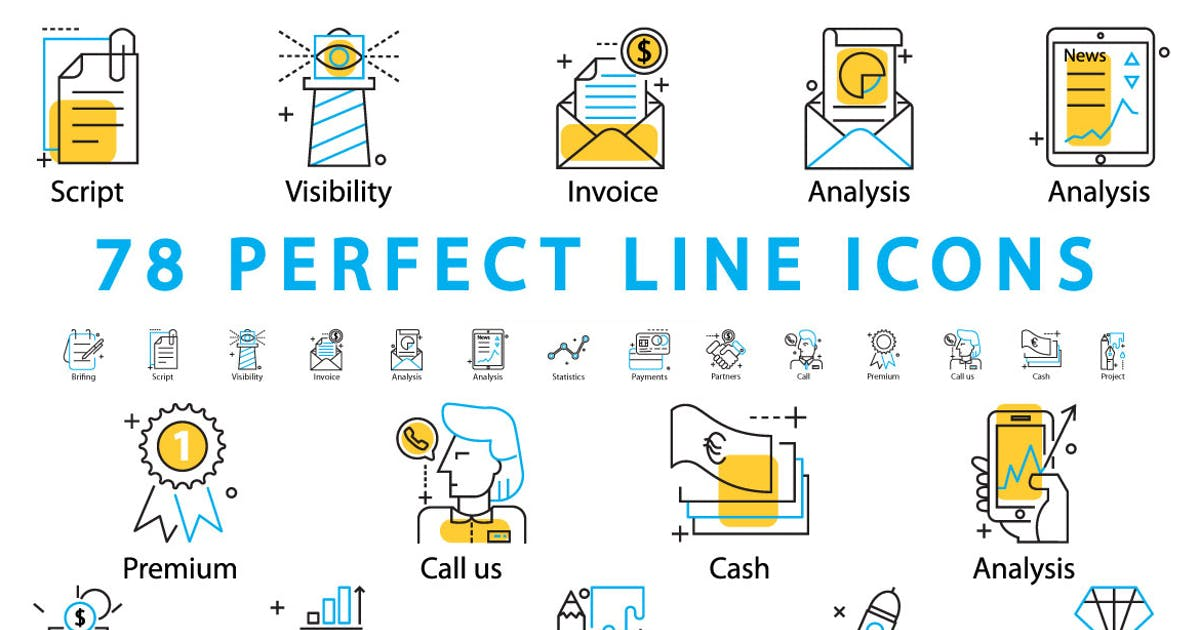 Download 78 PERFECT LINE ICONS by a_slowik