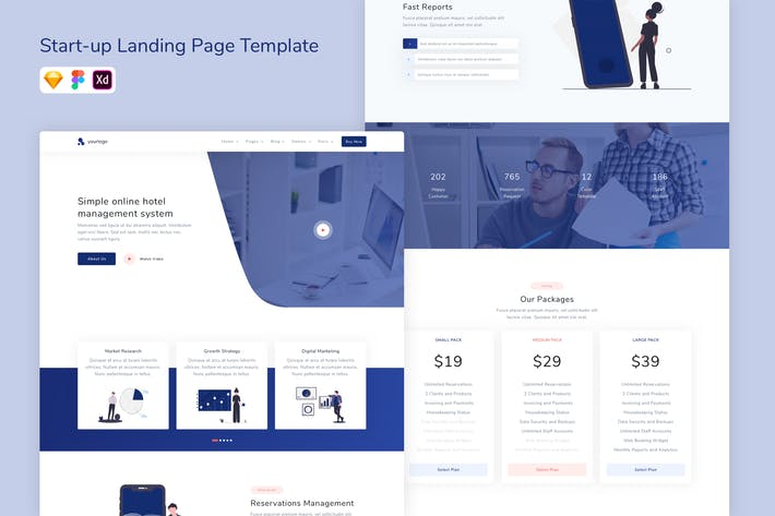 Thumbnail for Start-up Landing Page Template