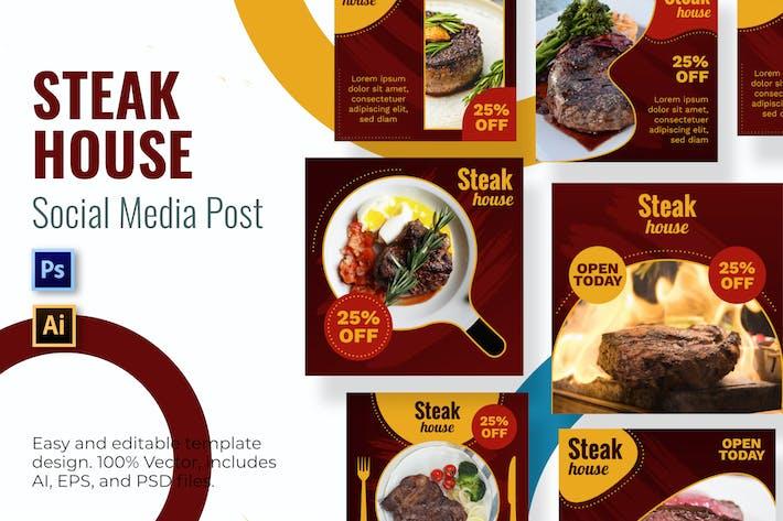 Vorlage für Steak Social Media