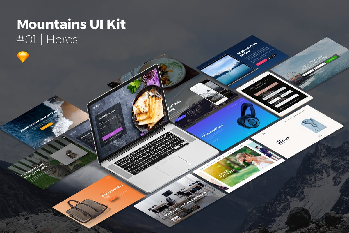 Download Mountains Ui Kit   Heros by CreativesCastle by Unknow