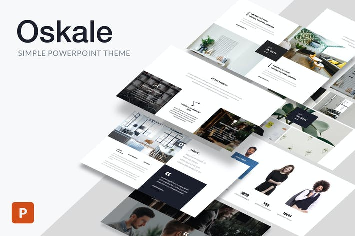 Thumbnail for Oskale - Minimal Theme Powerpoint