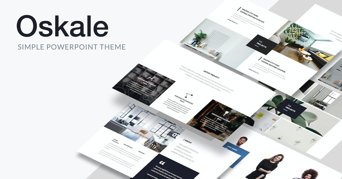 Download Oskale - Minimal Theme Powerpoint by Slidehack