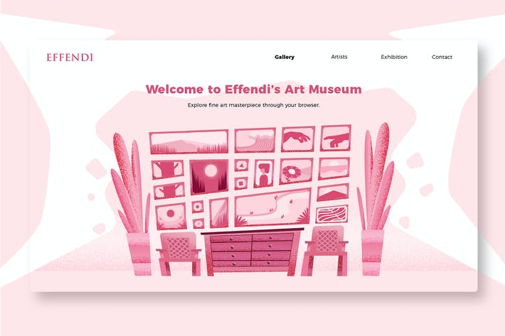 Thumbnail for Art Museum - Banner & Landing Page