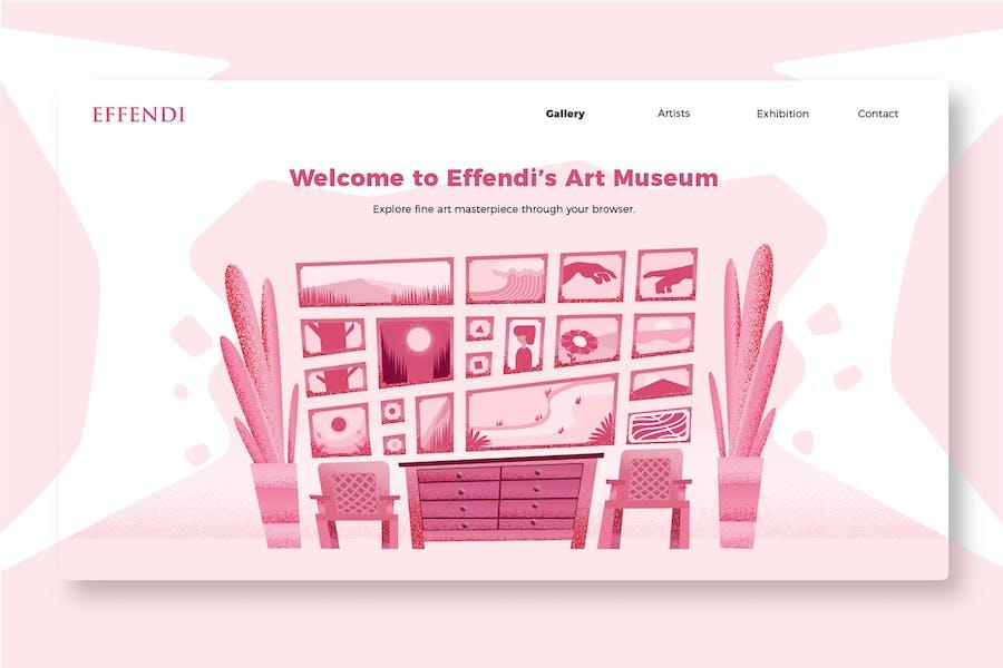 Art Museum - Banner & Landing Page