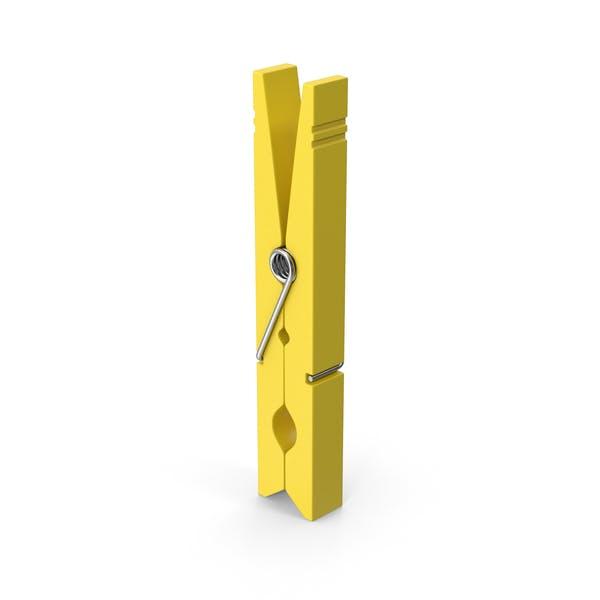 Pinzas para ropa, color amarillo