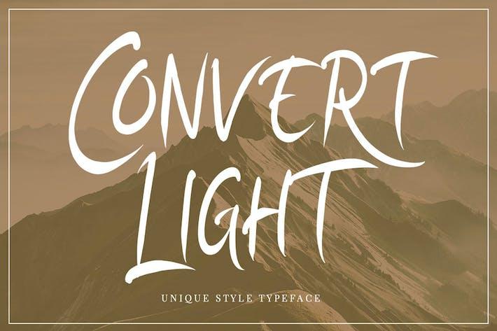 Convert Light Elegant Unique Amazing Script