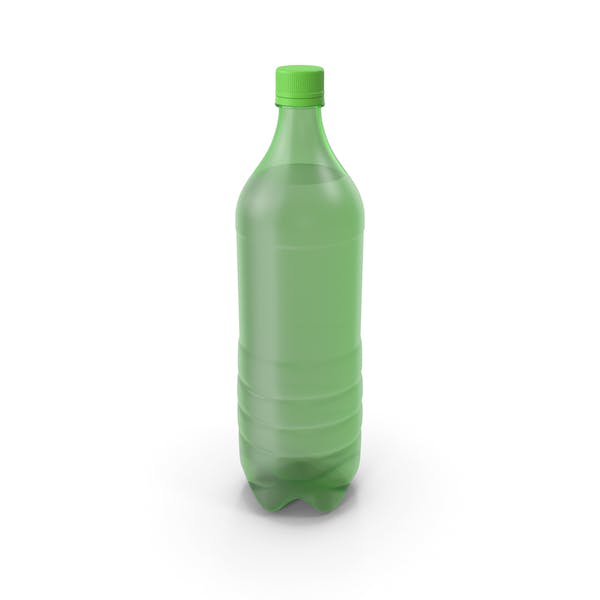 Plastic Bottle Green No Label