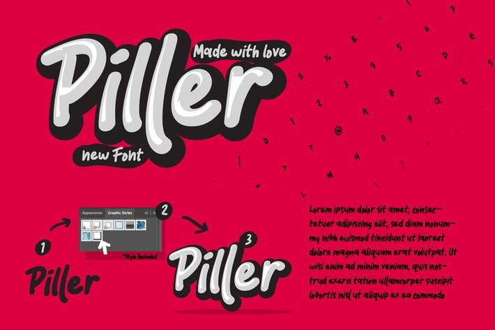 Piller the casual trendy font