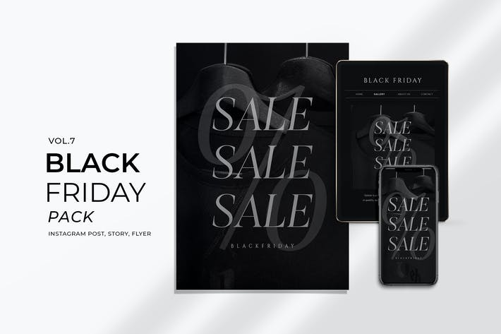 Thumbnail for Black Friday Promotion Flyer and Instagram Vol. 7