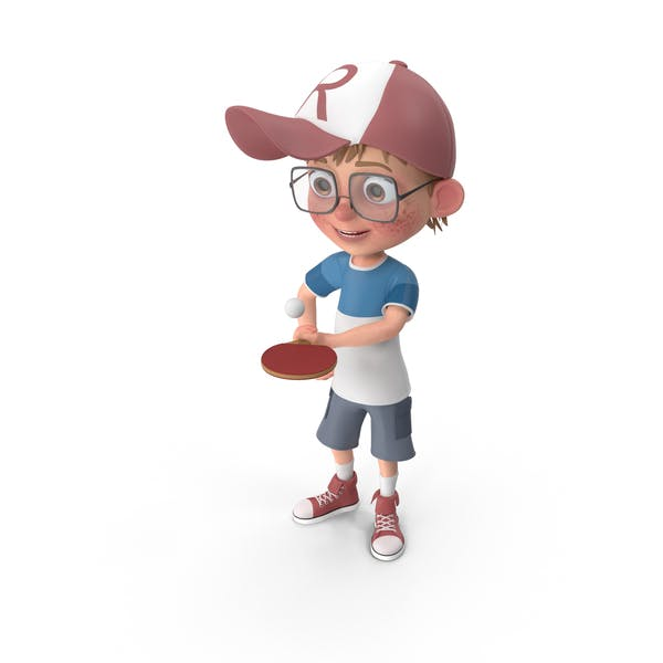 Thumbnail for Cartoon Boy Harry Playing Table Tennis