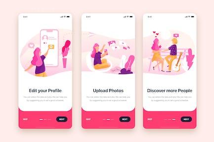 On boarding for Social Dating Mobile App