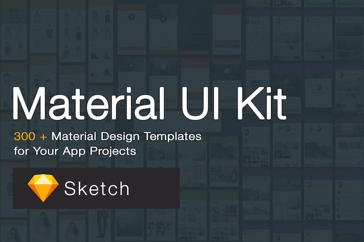 Thumbnail for Material Design UI KIT - 300+ for Sketch