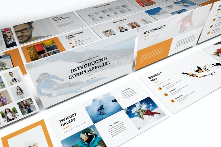 Thumbnail for Apparel Product Launching Powerpoint Template