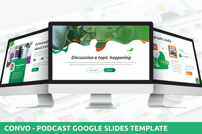 Thumbnail for Convo - Podcast Google Slides Template