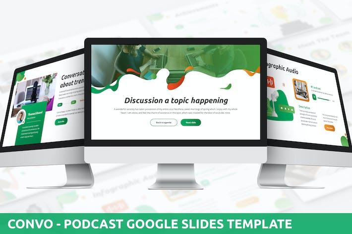 Thumbnail for Convo - Подкаст Google Слайды Шаблон