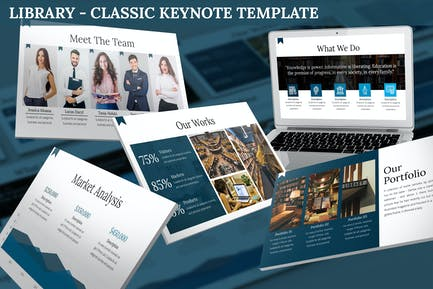 Library - Classic Keynote Template