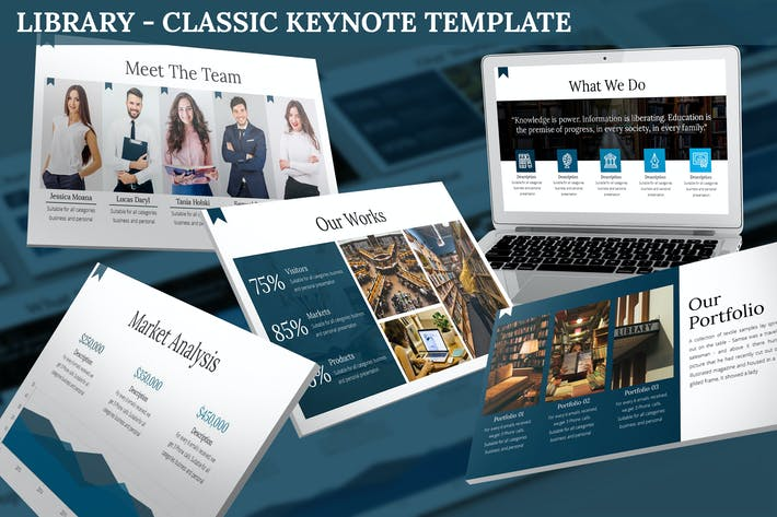 Thumbnail for Library - Classic Keynote Template