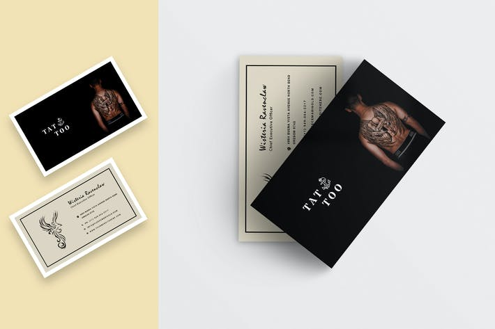 Thumbnail for Tattoo Shop Business Card Template