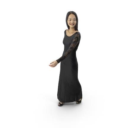 Frau Walking Kleid