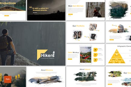 Hikers - Powerpoint Template