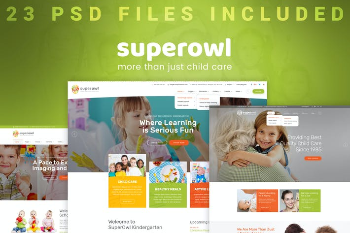 Thumbnail for SuperOwl - Kindergarten PSD Modèle