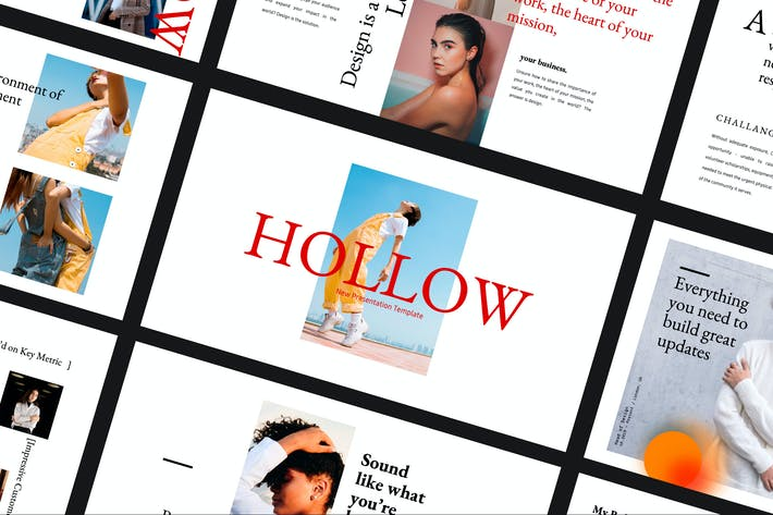 Thumbnail for Hollow - Graphic Design Google Slide Business