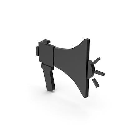 Symbol Megaphone Black