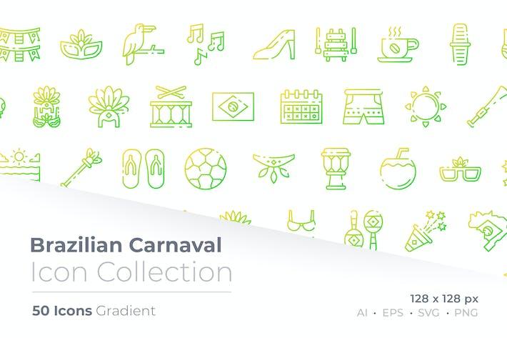 Brazilian Gradient Icon