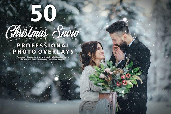 50 Рождественские снежные фотоНаложения - Vol 2