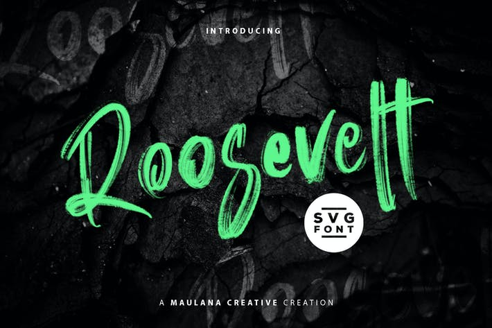 Thumbnail for Roosevelt SVG Brush Font