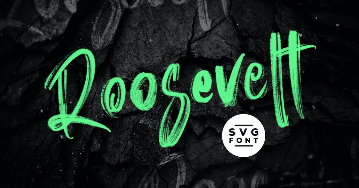 Download Roosevelt SVG Brush Font by maulanacreative