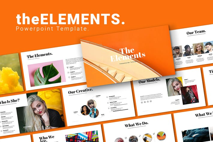 The Elements Powerpoint Template
