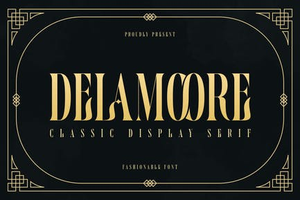 Delamoore - Классический дисплей с засечками