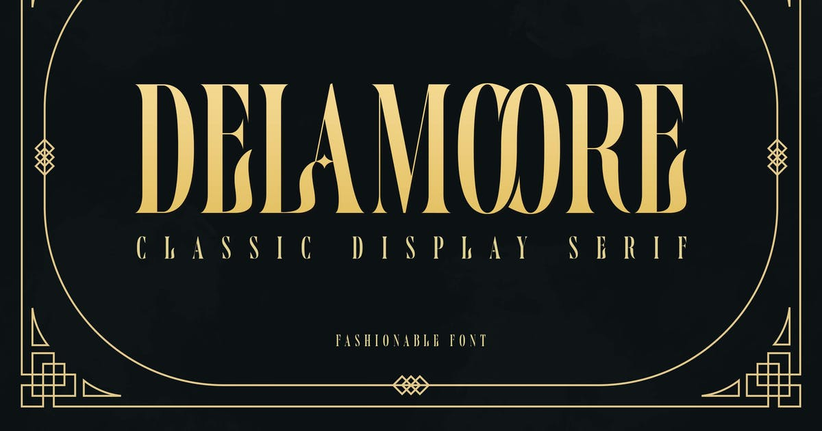 Download Delamoore - Classic Display Serif by Alterzone