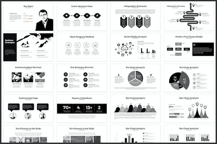 Download 1002 minimal portfolio templates envato elements minimal powerpoint template toneelgroepblik Images