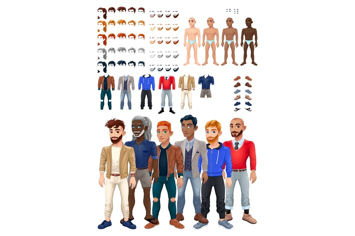 Thumbnail for Dresses and Hairstyles Game with Male Avatar