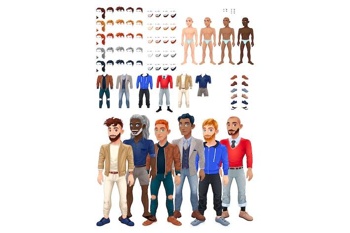 Thumbnail for Vestidos y peinados Juego con Avatar Masculino