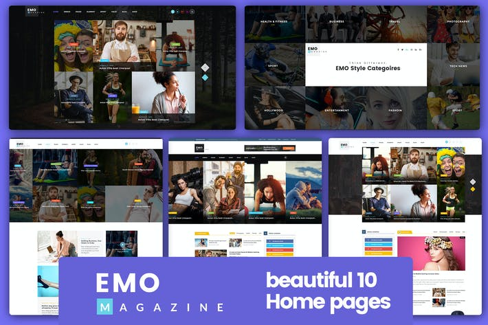 Thumbnail for EMO - Ultimate Magazine, News & Blog PSD Template