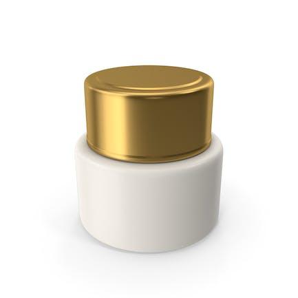 Botella crema cosmética oro