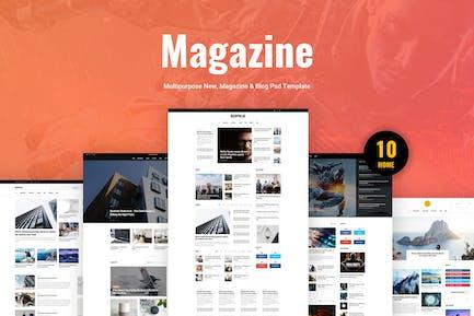 Redpulse Magazine - Multipurpose New & Blog Psd