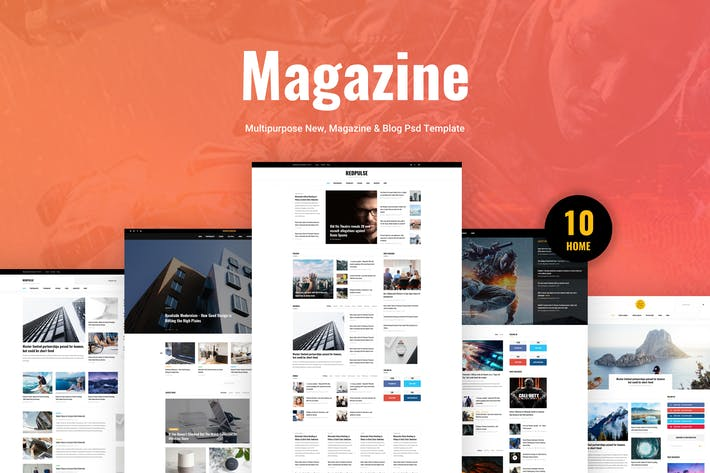 Thumbnail for Redpulse Magazine - Multipurpose New & Blog Psd