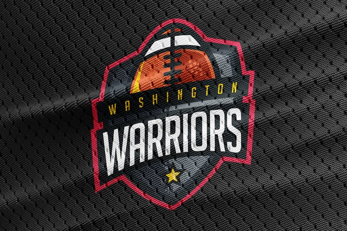 warriors football team logo template by odin design on envato elements